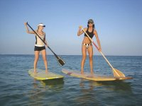 Paddleboarding is lots of fun.