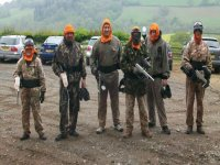 Paintball is a great activity.