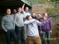 Clay pigeon shooting is a great activity to do with friends.