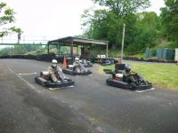 Have a great time karting.