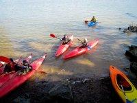 Enjoying a sunny day of kayaking