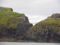 The rope bridge from the sea