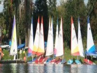Our dinghies lined up