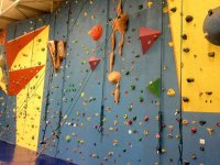 Our climbing wall