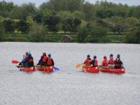 Paddling on the reservoir