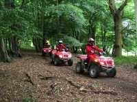 Quad Trekking through 300 acres of fields and woods