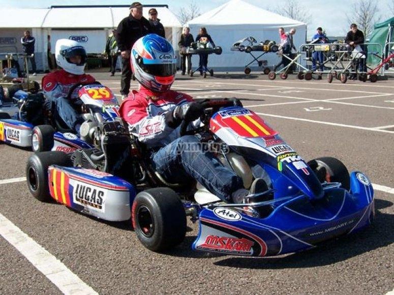 Professional kart racing