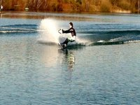 Waterskiing on our lake