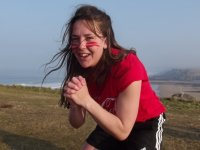 Bronte breaks out a squat for Sport Relief