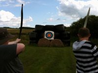 Challenge your friends to an archery competition