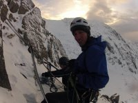 Climbing in all weathers.