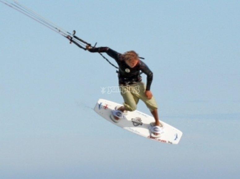 Kite surfing tricks