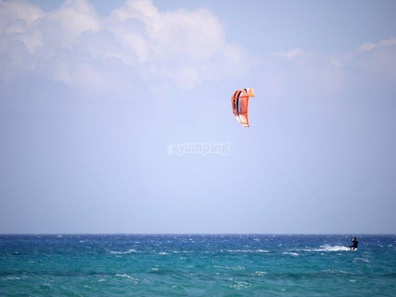 Kitesurfing sessions