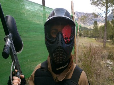 Paintball round with 100 balls in Yeste