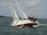 Windy sailing