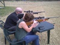 Air rifle shooting