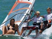 A windsurfing class