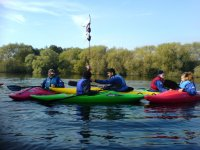 Kayaking makes for a fun group activity