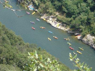 Kayak route in Pontevedra