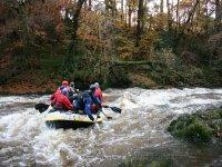 Rafting in river