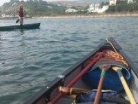 In an open canoe