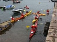 Out with other kayakers