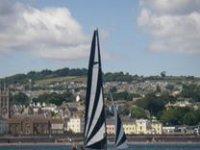 Sailing past the coast