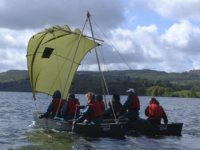 Groups with sailing rig on Windermere