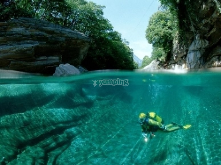 Tropical drift diving