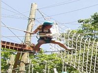 Put yourself to the test on our high ropes course