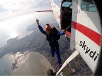 Jumping from the plane static line