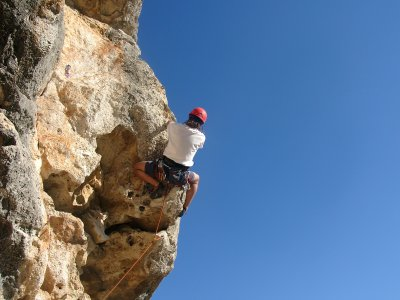 Climbing & Rappelling Baptism in V. del Penedés