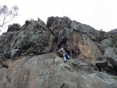 Rock climbing initiation course