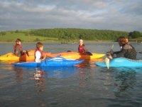 flat water kayak group