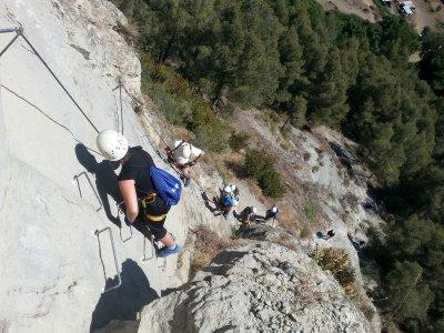 Via Ferrata for beginners in Baumes Corcades