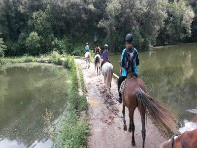Horseback ride tour to Maià de Montcal