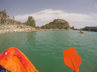 Canoeing in calm waters, Murcia's reservoirs