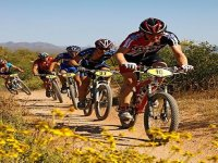 Competitive mountain bike racing