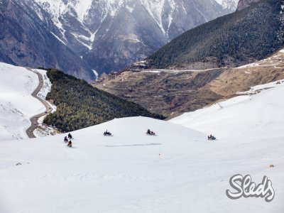 Two-Seater Snowmobile Tour in Cerler, 1h