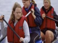 Canoing is a great activity.