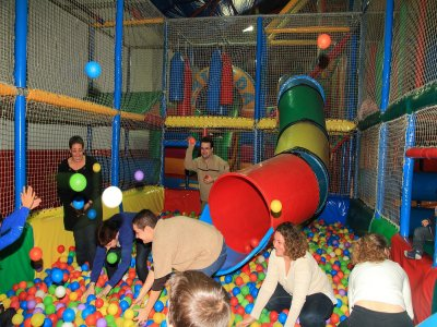 Party for adults and dinner at a playground