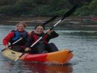 A friendly paddle