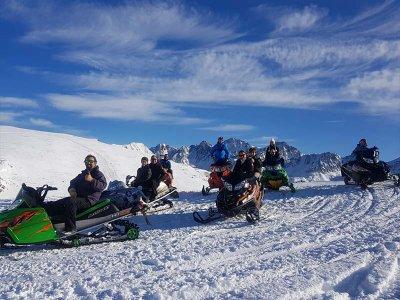 1h Off-Road Snowmobile Trip in Andorra