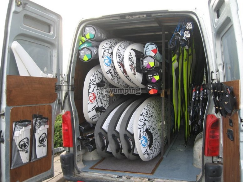 Wide range of windsurfing gear