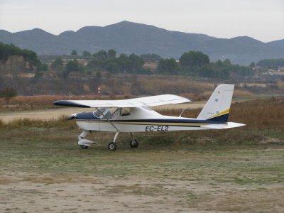 ULM Flight for beginners at Alcocer, 15 min.