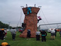 Great days with our mobile climbing and abseiling wall