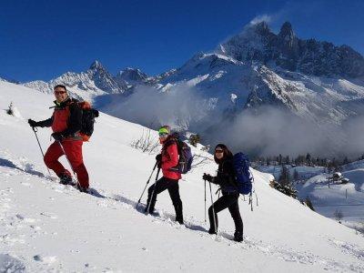 Snowshowing in Navacerrada, transport included
