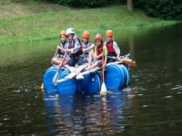 Rafting with 1610 on the lake at Hestercombe Gardens