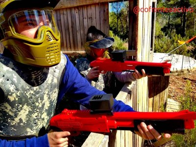 Soft paintball game 300 balls Zarra or Cofrentes