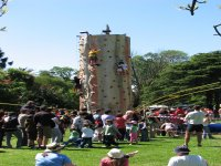 Take on our mobile climbing wall